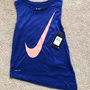 NWT! Girl's Super Cute Asymmetrical Nike Tank